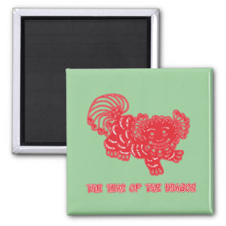 Chinese Papercut Art Year of the Dragon Products Magnet