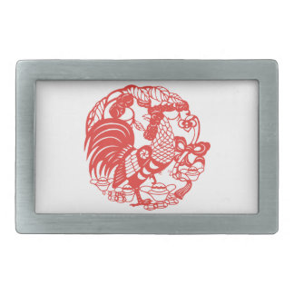 Chinese Papercut Rooster Year 2017 Belt Buckle