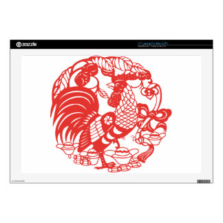 Chinese Papercut Rooster Year 2017 decal Decal For Laptop