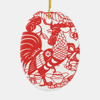 Chinese Papercut Rooster Year 2017 ornament 2