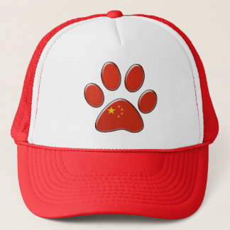 Chinese patriotic cat trucker hat