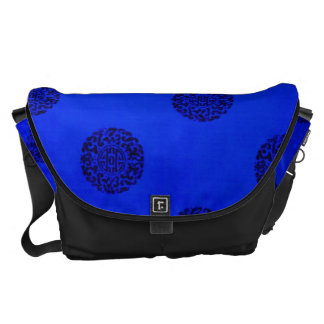 Chinese Pattern Background Messenger Bag