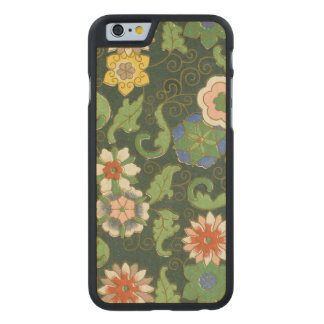 Chinese Pattern Cloisonne Carved Maple iPhone 6 Slim Case