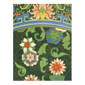 Chinese Pattern Vintage Pattern Cloisonne Postcard