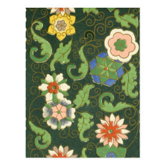 Chinese Pattern Vintage Pattern Cloisonne Postcards