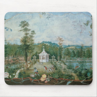 Chinese Pavilion in an English Garden, 18th centur Mouse Pad