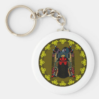 Chinese Peking Opera Mask design v2 Keychain