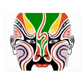 Chinese Peking Opera Mask Postcard