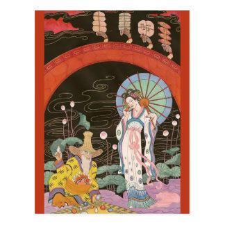 Chinese Perfume Vendor by George Barbier Postcards