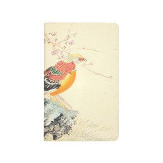 Chinese Pheasants Imao Keinen birds and sakura art Journal