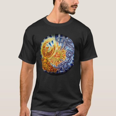 Chinese Phoenix and Dragon Mandala T-shirt