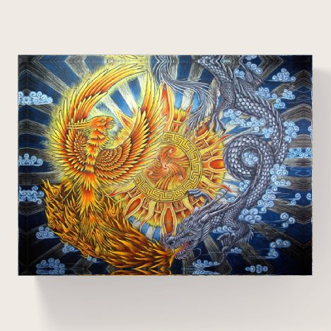 Chinese Phoenix and Dragon Paperweight