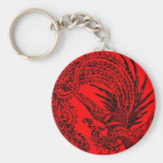 Chinese Phoenix design on keychain