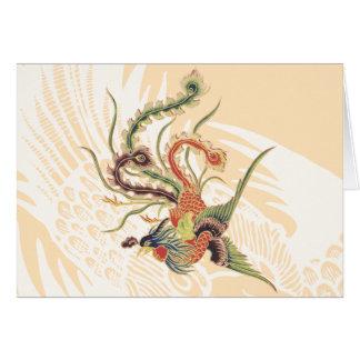 Chinese Phoenix - Fenghuang  Mythological Birds Ar Greeting Cards