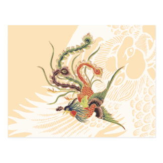 Chinese Phoenix - Fenghuang  Mythological Birds Ar Postcard