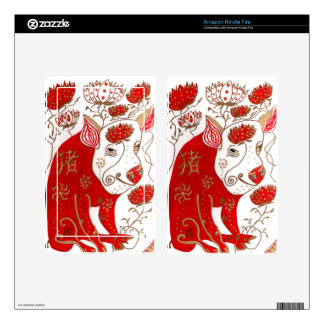 Chinese Pig Astrology Skin Kindle Fire Decals