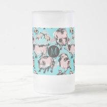 Chinese Pig Year 2019 Original Monogram Blue F Mug
