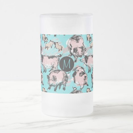 Chinese Pig Year 2019 Original Monogram Blue F Mug