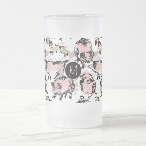 Chinese Pig Year 2019 Original Monogram Frosted G Frosted Glass Beer Mug