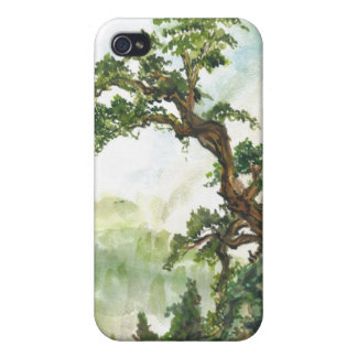 Chinese Pine Tree Landscape Case Cover For iPhone 4