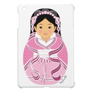 Chinese Pink HanFu Girl Matryoshka iPad Mini Case