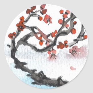 Chinese Plum Blossom Stickers