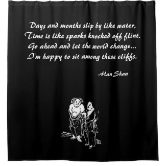 Chinese Poet Philosopher Hermits Shower Curtain