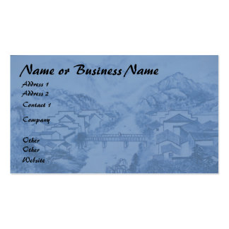 Chinese Porcelain Blue Business Card