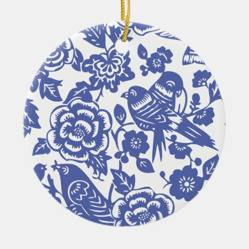 Chinese Porcelain Pattern II Christmas Ornament