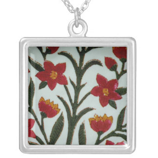 Chinese Porcelain Silver Plated Necklace