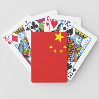 Chinese pride bicycle playing cards