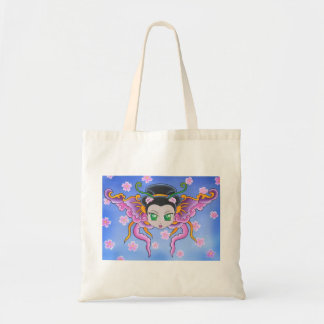 Chinese Princess Butterfly Totes Budget Tote Bag
