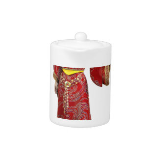 Chinese Princess in Red Teapot