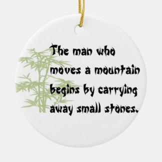 Chinese Proverb Christmas Ornament