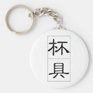 Chinese proverb, idiom: bei1 ju4 tragedy, shown in basic round button keychain