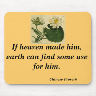 Chinese proverb mouse pad