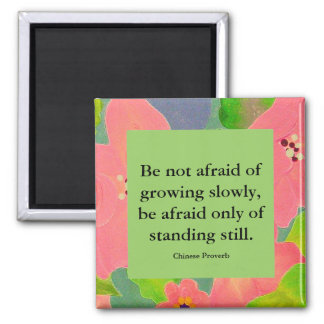 Chinese Proverb on growth vs standing still Magnet