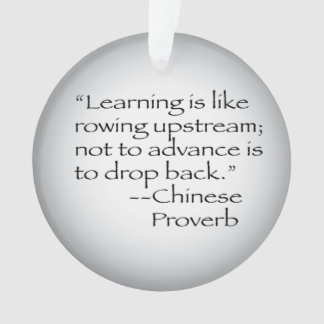 Chinese Proverb Quote Ornament