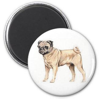 Chinese Pug 2 Inch Round Magnet