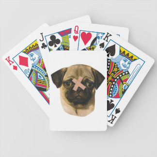 Chinese Pug Band-Aid Playing Cards