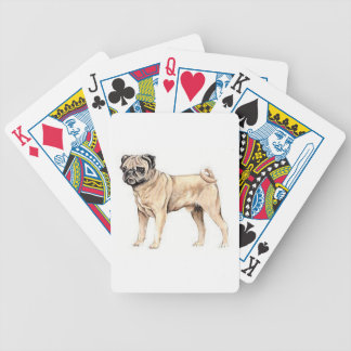 Chinese Pug Dog Fawn Playing Cards