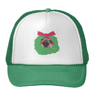 Chinese Pug Holiday Wreath Trucker Hat