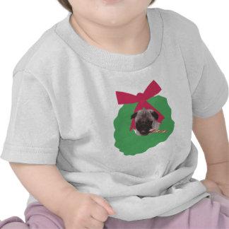 Chinese Pug Holiday Wreath Shirt
