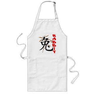 Chinese Rabbit Symbol Gift Long Apron