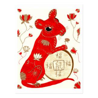 Chinese Rat Astrology Postcard