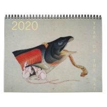 Chinese Rat Year Asian Art Zodiac custom Calendar
