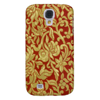 Chinese Red and Gold Pattern Samsung Galaxy S4 Case