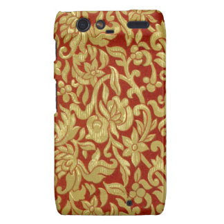 Chinese Red and Gold Pattern Motorola Droid RAZR Case