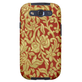 Chinese Red and Gold Pattern Galaxy SIII Cover
