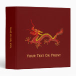 Chinese Red And Gold Year Of The Dragon Binder